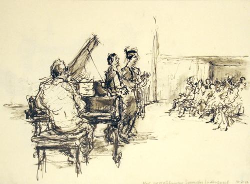 Schumann, das Spanisches Liederspiel (pen en houtskool)