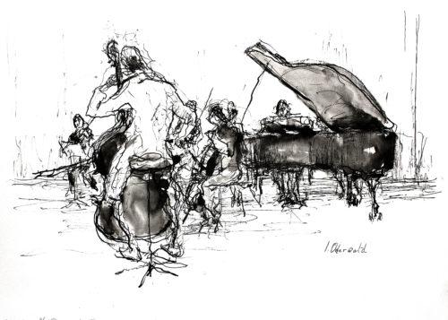 2020-02-04 leden NedPho spelen Forellenkwintet van Schubert,